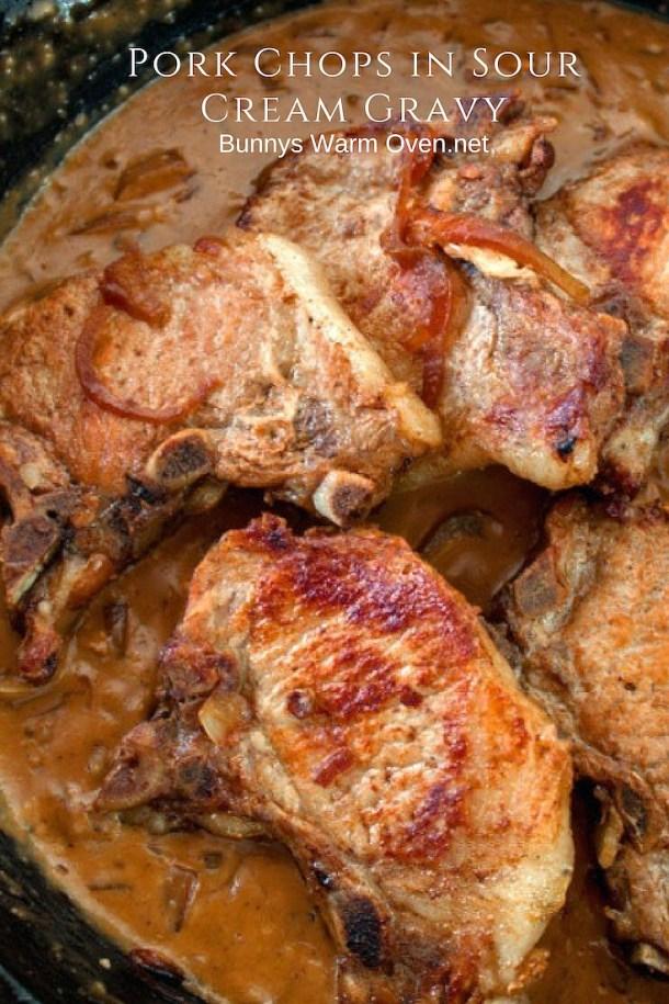 Pork Chops in SOur Cream Gravy