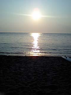 秋谷の夕日