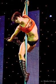 Pole Dancer, Brisbane Sexpo 2009, Convention Hall, South Bank, Brisbane, Queensland