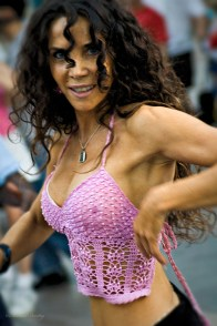Salsa dancers, Third Street Promenade, Santa Monica, Los Angeles, California