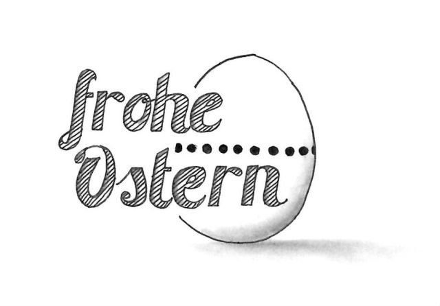 Hand Lettering / Typografie Frohe Ostern