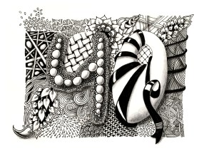 Zentangle inspired Art: 40. Geburtstag