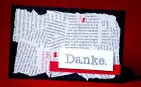"""Dankeskarte """"Zeitung"""""""