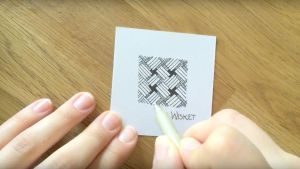 Zeitraffer Video Zentangle® Muster Wisket