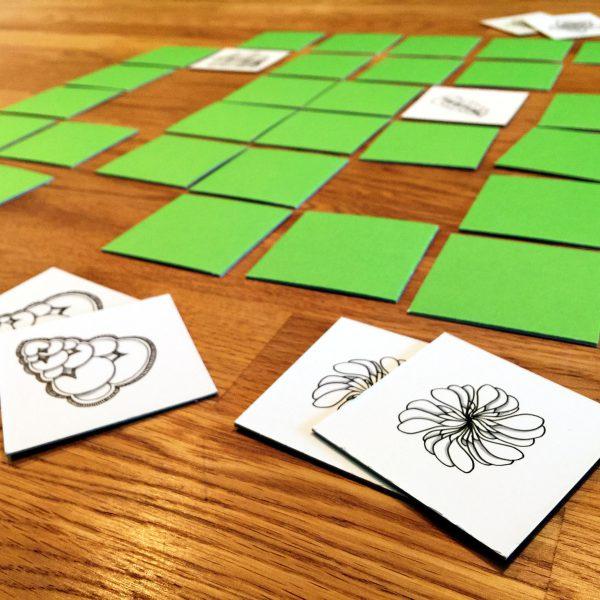 Karten-Legespiel mit Zentangle Mustern