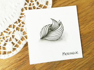 Zentangle® Muster Meringue