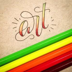 Art - Buntstift Ombre Hand-Lettering