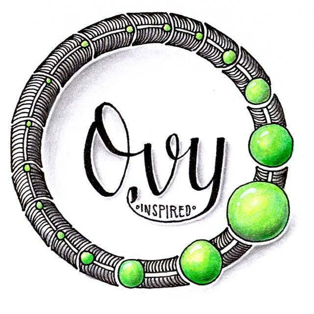 Kranz aus dem Zentangle Muster Ovy