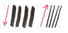 dicker Abstrich, dünner Aufstrich