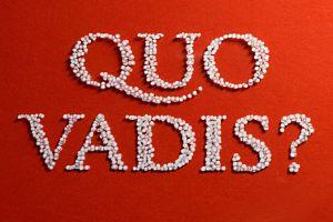 Quo Vadis - Hand Lettering mit Chalk Marker (Kreidestift) auf Glas