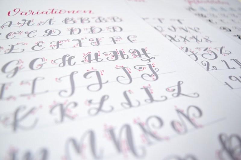 Brush Lettering übungsblätter Für Kleine Brush Pens Bunte Galerie