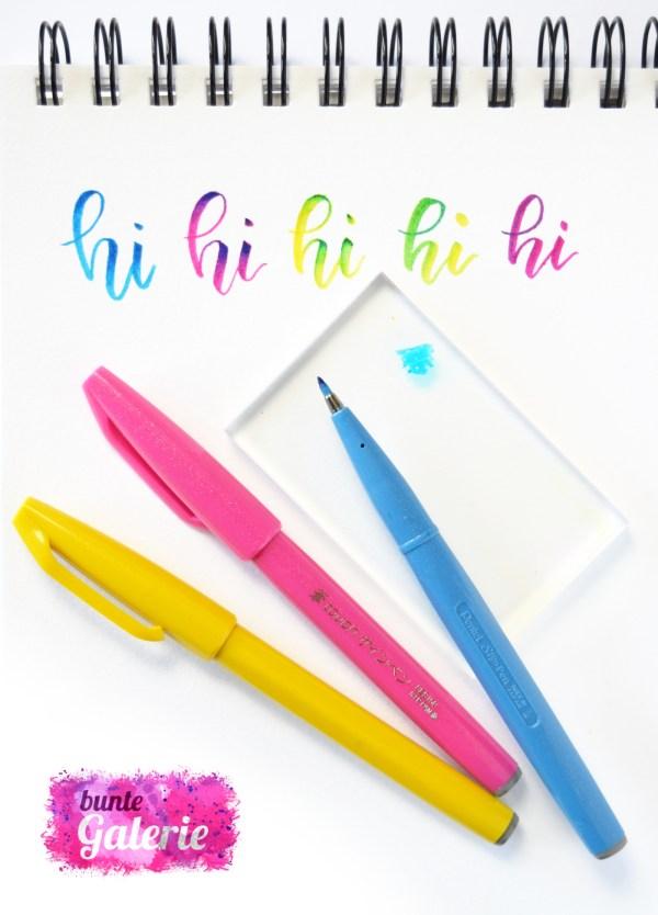 Farbverlauf mit kleinen Brush-Pens
