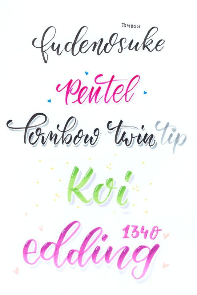 Brushpens im Vergleich: Tombow Fudenosuke, Pentel Sign Brushpen, Tombow twin tip, Koi colouring bushpen, redding 1340
