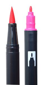 Tombow Dual Brush Pens sind gut für größere Letterings