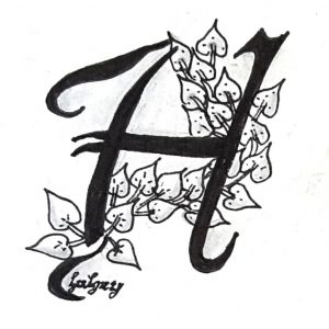 Tangle-Monogramm H - Hannelore (hahey)