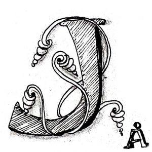 Tangle-Monogramm J - Anya Ipsen (Sutsche Tangeleien)