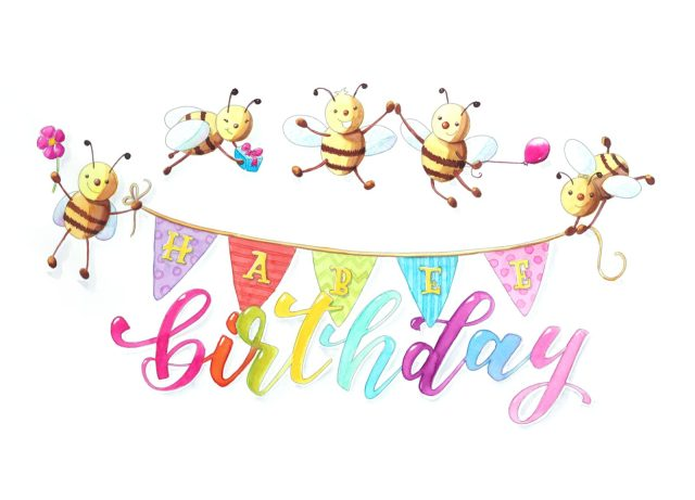 HABEE birthday - Geburtstagskarte   Bunte Galerie