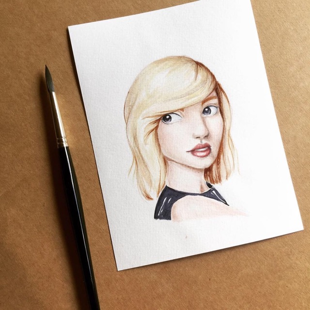Aquarell Mädchen Sketch