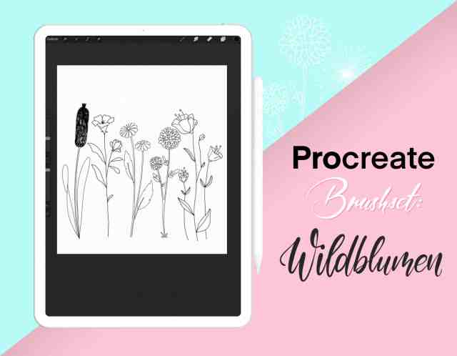 Wildblumen Brushset