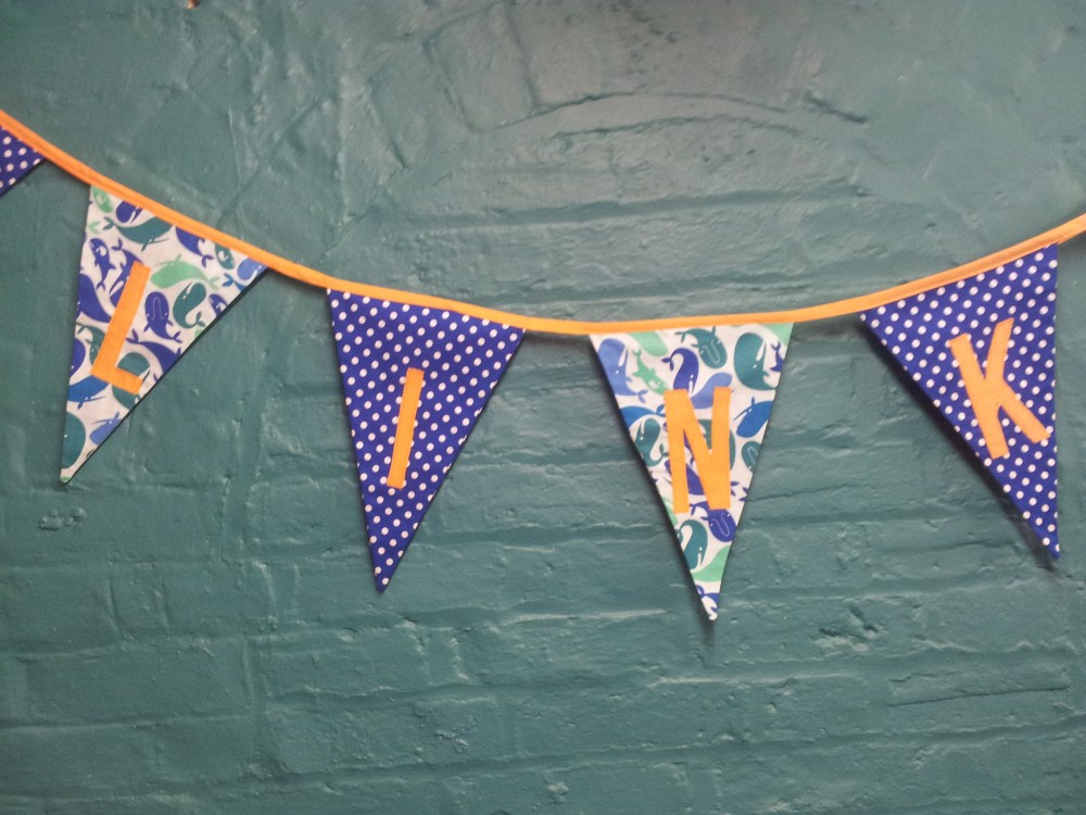 Zak and Link Personalised Bunting (2/6)