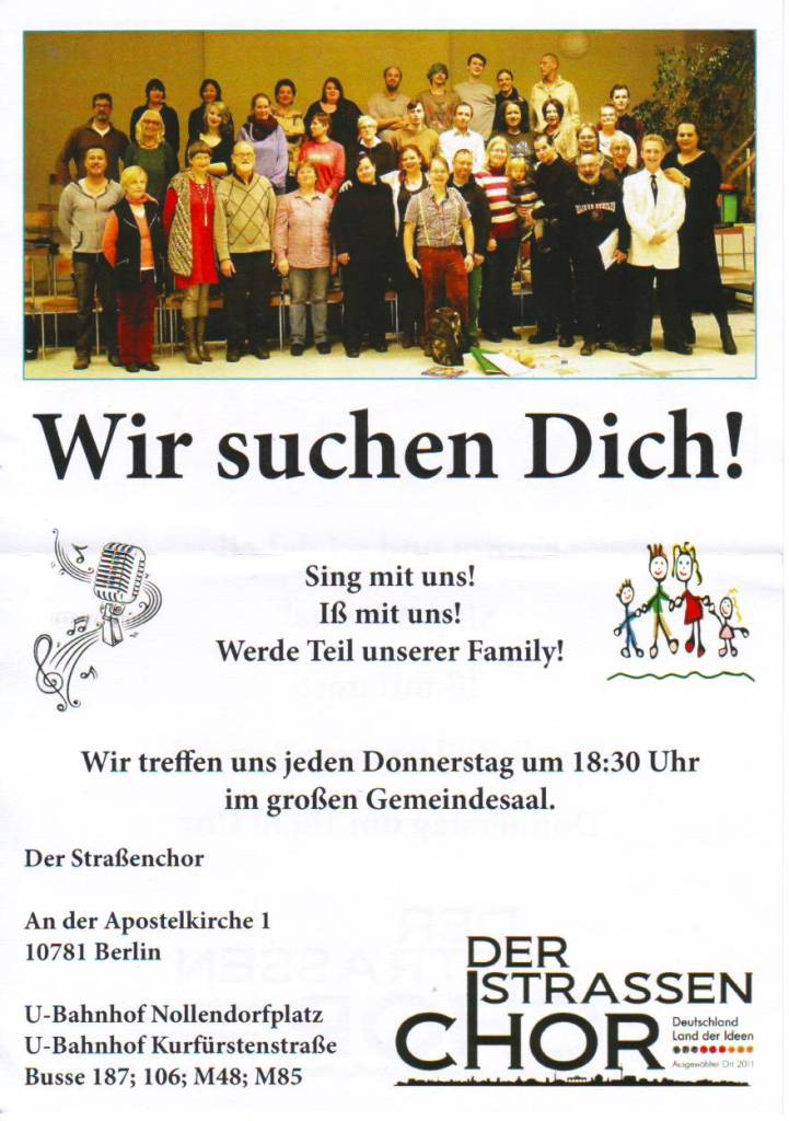 BS Info - Der-Straßenchor 20160212 ©Straßenchor