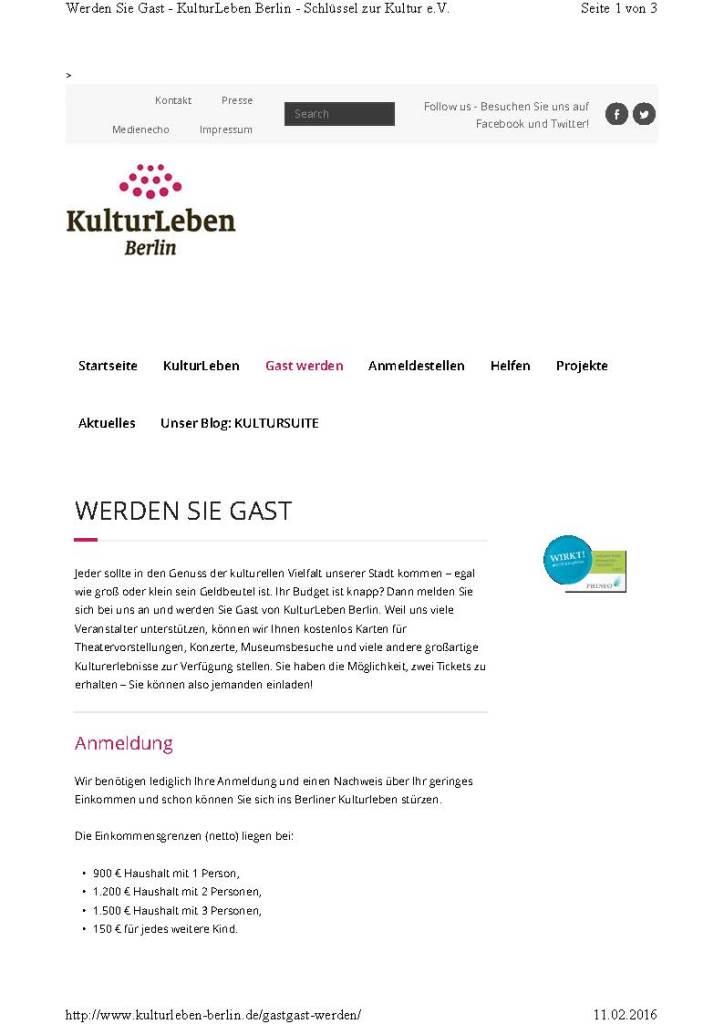 BS Info - Kulturleben 20160211 ©Kulturleben