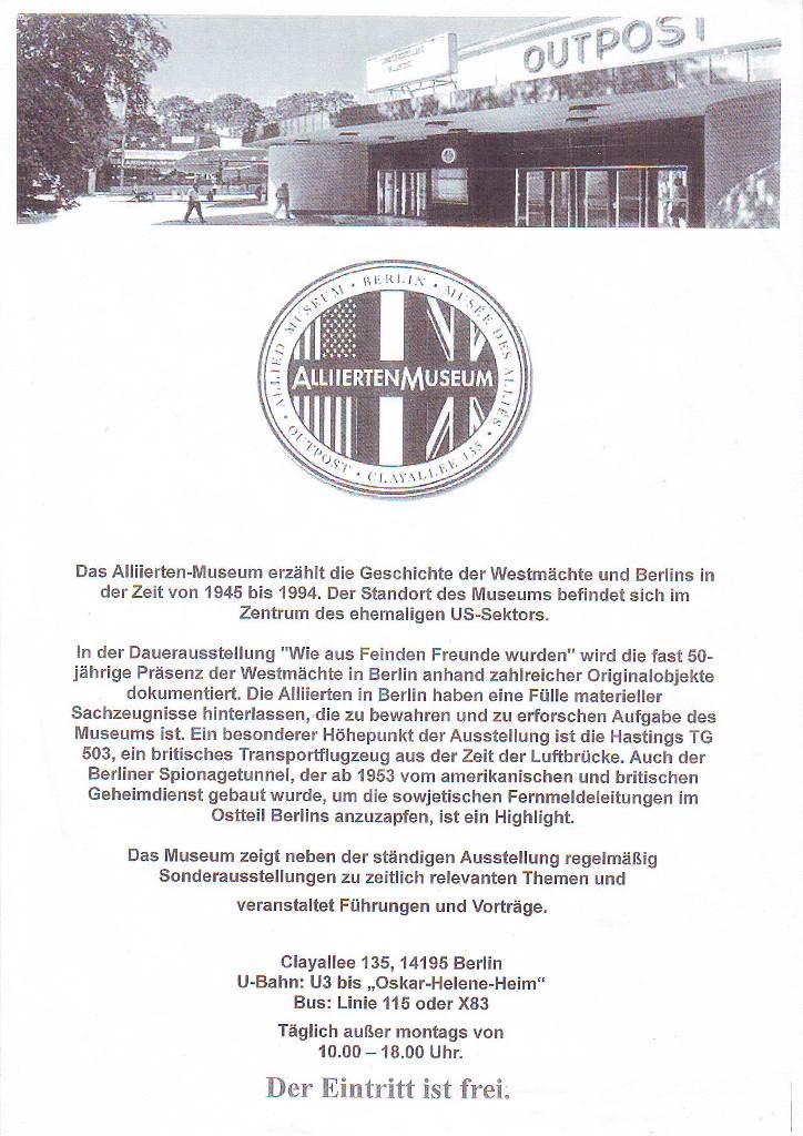 BS News - Alliiertenmuseum 20160201 ©Alliiertenmuseum