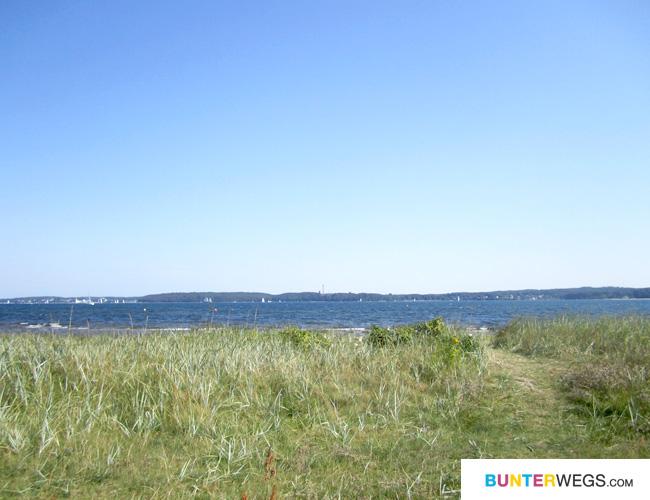 Der Gendarmstien führt an der Ostsee - Küste entlang