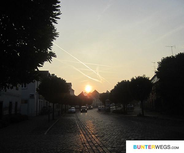 Annaburg um 7.40 Uhr morgens