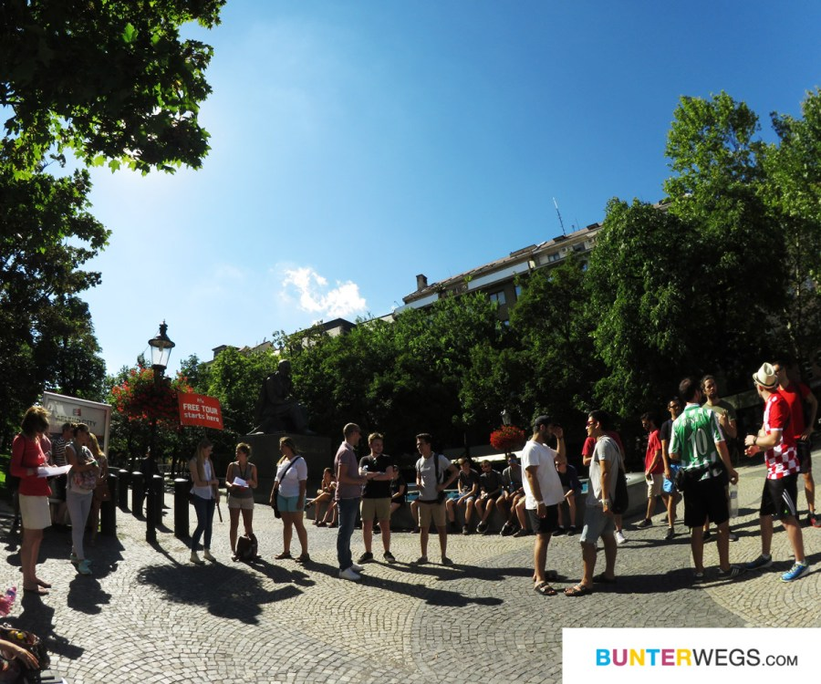 Bratislava Free Walking Tour. Be Free Tours * BUNTERwegs. Der Outdoor Blog für Frauen mit Liebe zum Wandern und zur Street Art