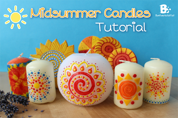 Decorate Candles For Midsummer Colorful Crafts
