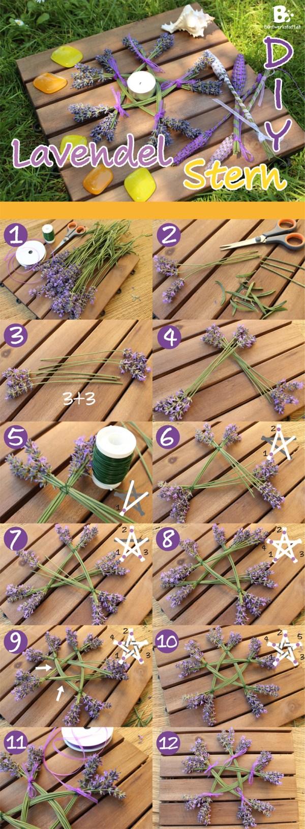 Lavendel Stern Anleitung