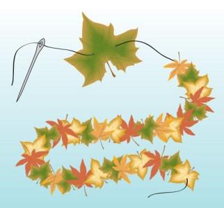 Blättergirlande