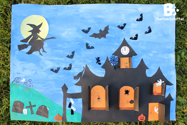 Haunted House Halloween Craft Colorful Crafts
