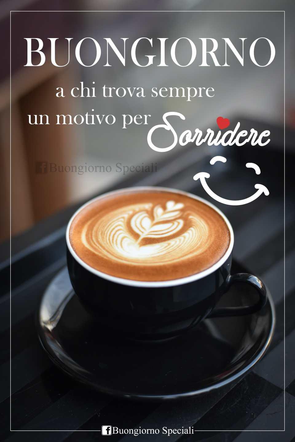 buongiorno col sorriso e un caffè