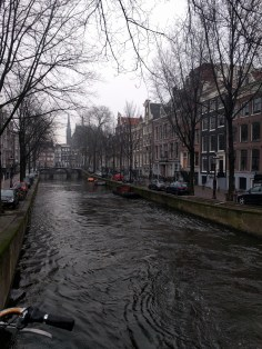 Canal; a typical sight throughout the city of Amsterdam.