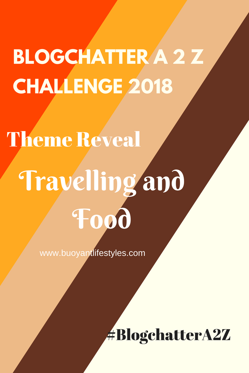 Travelling and Food – #BlogchatterA2Z challenge Theme Reveal