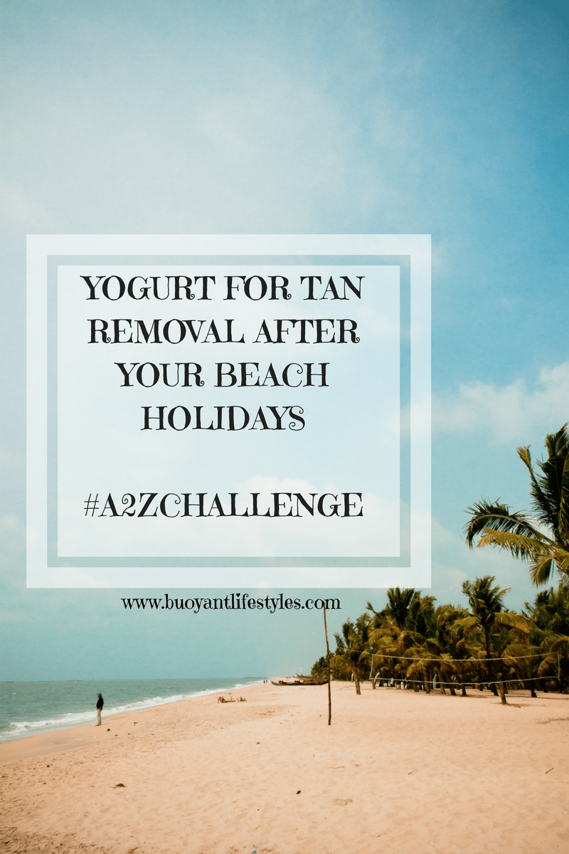 Yogurt for Tan Removal after your beach holidays