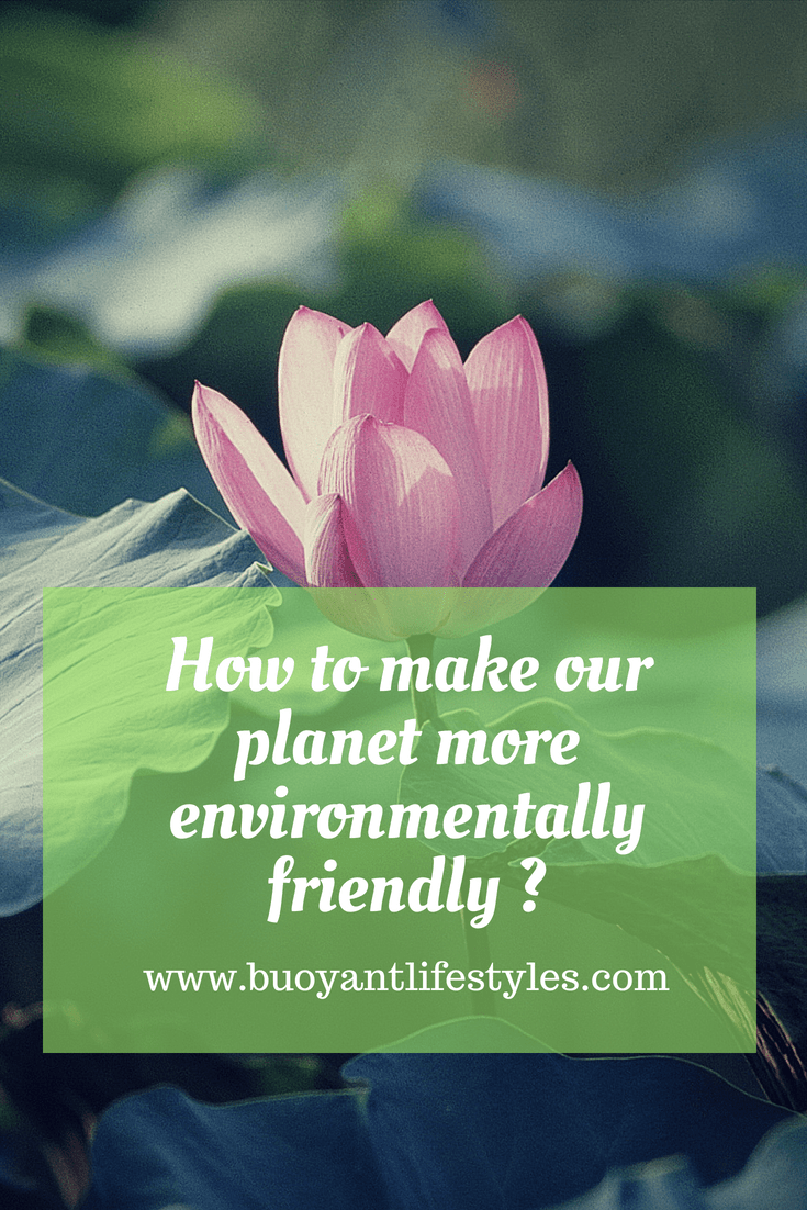 How to make our planet more environmentally friendly ?