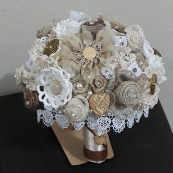 buque de noiva rustico glamour