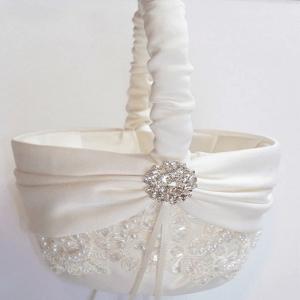 cesta para florista com strass