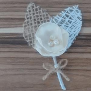 lapela rústica com mini pérolas