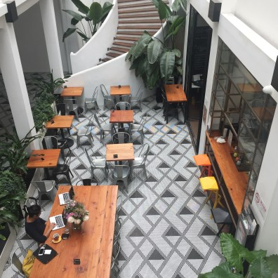Grab a coffee and a cookie at SeeSaw Cafe