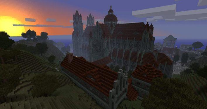 Günbatımında Katedral