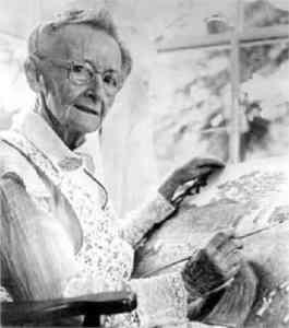 Büyükannesi Musa'nın lakabı ile tanınan Anna Mary Robertson Moses, Amerikan halk sanatçısıydı. 78 yaşında ciddi bir şekilde resim yapmaya başladı ve genellikle sanatta kariyerine ileri yaşlarda başarıyla başlayan bir bireye örnek olarak gösterildi.