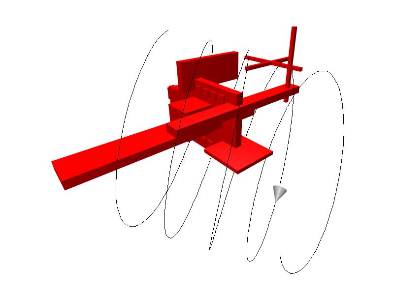 Camera-n on a three-dimensional helix path.