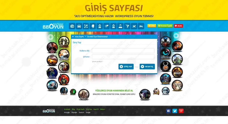 BBOYUN WordPress Oyun Teması