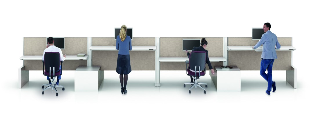 travailler debout mobilier bureau Burama 2