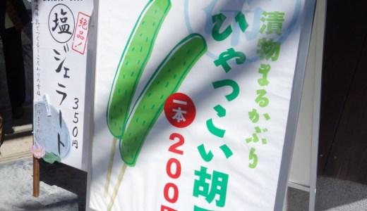 暑い夏の京都観光にはこの1本!「京つけもの もり」で食べた夏季限定の『冷っこい胡瓜(きゅうり)』が絶品!