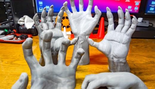 【3Dプリンタ】不気味でリアル、壁掛けも出来るウォールハンドを作ってみました!【Thingiverse】